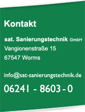 sat Sanierungstechnik Worms Tel. 06241 8603 0